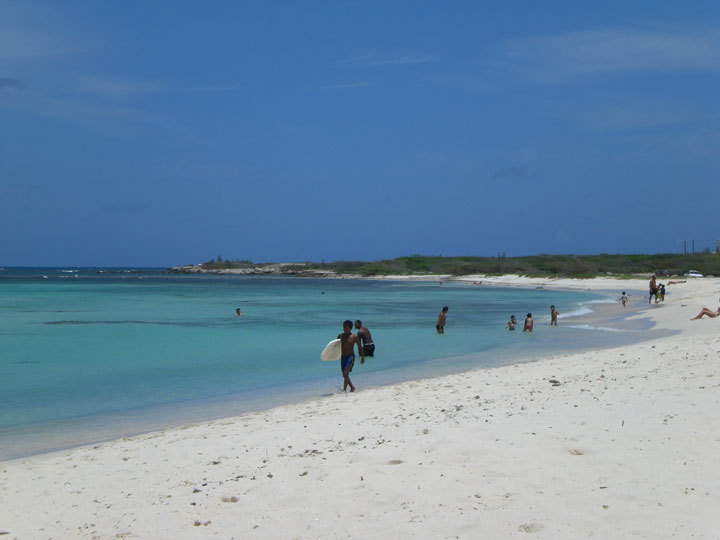 Arashi Beach Blogging to Aruba